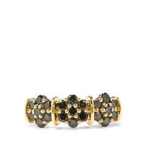 1ct  Green Diamond 9K Gold Tomas Rae Ring