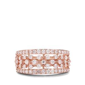 1ct Pink Diamond 18K Rose Gold Tomas Rae Ring