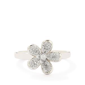 1/4ct Diamond 9K White Gold Ring