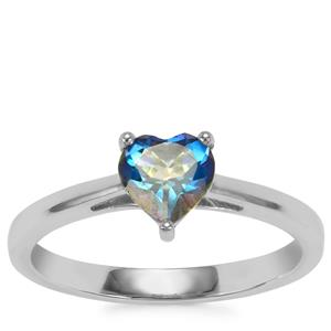 Mystic Blue Topaz Ring in Sterling Silver 0.90cts