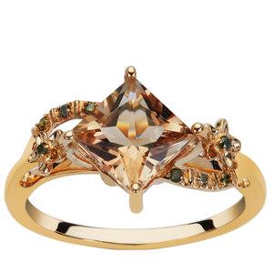 Serenite & Green Diamond 9K Gold Ring ATGW 1.59ct