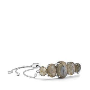 Labradorite Slider Bracelet in Sterling Silver 19.01cts