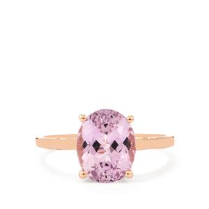 Mawi Kunzite Ring in 10K Rose Gold 3.62cts