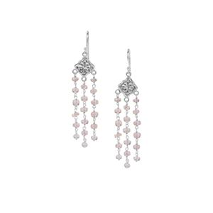 18ct Alto Ligonha Morganite Sterling Silver Bead Earrings