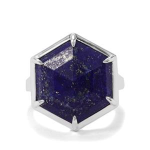 10.52ct Sar-i-Sang Lapis Lazuli Sterling Silver Ring