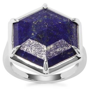 Sar-i-Sang Lapis Lazuli Ring in Sterling Silver 10.52cts