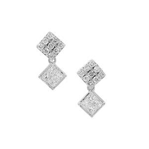 1/2ct Diamond Platinum 950 Tomas Rae Earrings