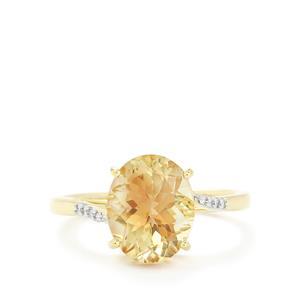 Oregon Sunstone & Diamond 14k Gold Tomas Rae Ring ATGW 3.04cts