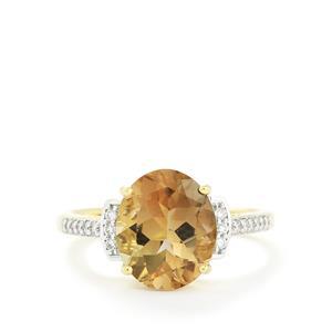 Oregon Sunstone & Diamond 14k Gold Tomas Rae Ring ATGW 3.05cts