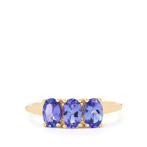 AA Tanzanite Ring in 10k Gold 1.46cts