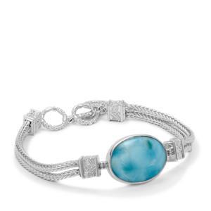Larimar Bracelet in Sterling Silver 15.55cts