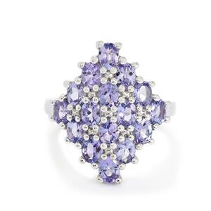 2.92ct AA Tanzanite Sterling Silver Ring