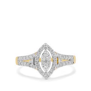 Argyle Diamond Ring in 9K Gold 0.55ct