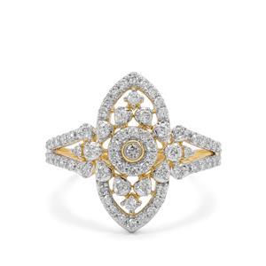 3/4ct Argyle Diamond 9K Gold Ring