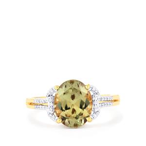 Csarite® & Diamond 18K Gold Ring MTGW 2.78cts