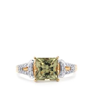 Csarite® Ring with Diamond in 18K Gold 2.19cts