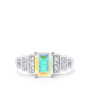 Mercury Mystic Topaz Ring with White Topaz in Sterling Silver 2.06cts