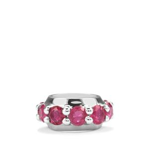 Malagasy Ruby Charm in Sterling Silver 1.53cts (F)