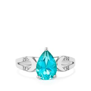 Batalha Topaz Ring with White Zircon in Sterling Silver 2.19cts