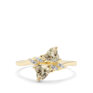Csarite® Ring with Diamond in 9K Gold 1.03cts