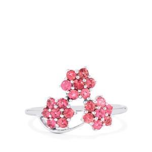 0.69ct Natural Pink Tourmaline Sterling Silver Ring