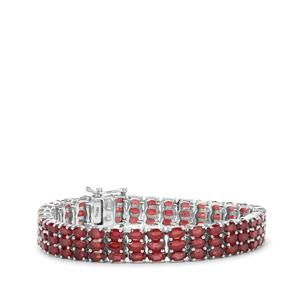 Malagasy Ruby Bracelet in Sterling Silver 35.70cts (F)
