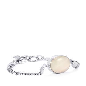 Pink Aragonite Bracelet in Sterling Silver 11cts