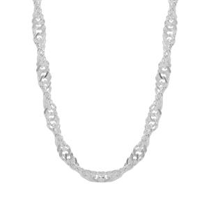 """24"""" Sterling Silver Couture Singapore Slider Chain 3.45g"""