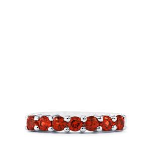 Mozambique Garnet Ring in Sterling Silver 1.07cts