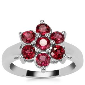 Rajasthan Garnet Ring in Sterling Silver 1.75cts