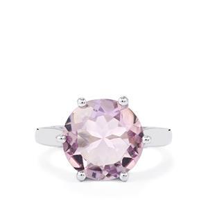 5.45ct Rose De France Amethyst Sterling Silver Ring