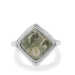 Rainforest Jasper Ring in Sterling Silver 4.50cts