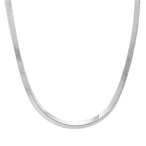 """18"""" Sterling Silver Tempo Square Cut Snake Chain 7.16g"""