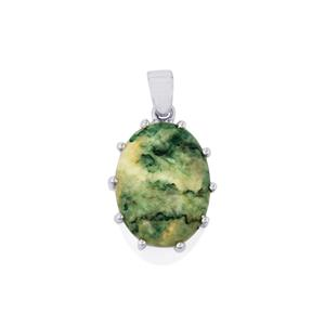Siberian Mariposite Pendant in Sterling Silver 17.48cts