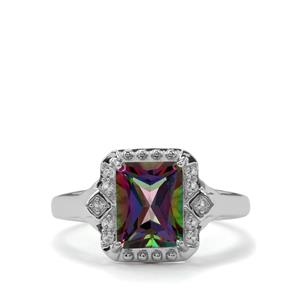 2.85ct Mystic & White Topaz Sterling Silver Ring