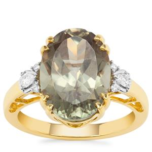 Csarite® Ring with Diamond in 18K Gold 7.03cts