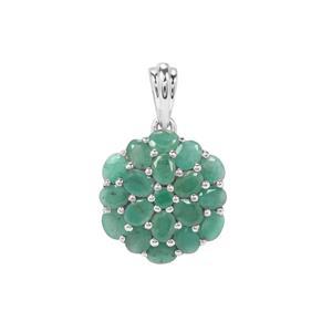Carnaiba Brazilian Emerald Pendant in Sterling Silver 3.05cts