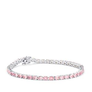 Mozambique Pink Spinel Bracelet in Sterling Silver 8cts