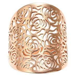 Rose Tone Sterling Silver Bayeux Ring 2.58g