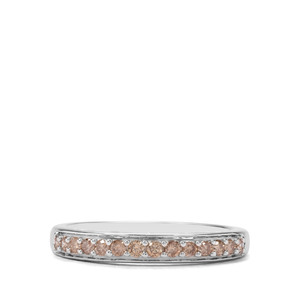 1/4ct Champagne Diamond Sterling Silver Ring