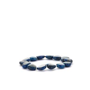Lapis Lazuli Heart Stretchable Bracelet 146.40cts