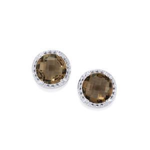 Smokey Quartz Earrings in Sterling Silver 6.86cts