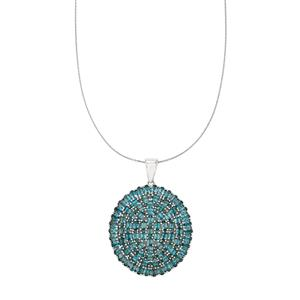 Marambaia London Blue Topaz Pendant Necklace in Platinum Plated Sterling Silver 24.32cts