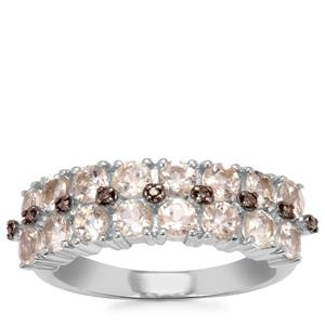 Serenite Ring with Champagne Diamond in Sterling Silver 1.76cts