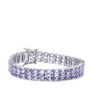 23.46ct Tanzanite Sterling Silver Bracelet