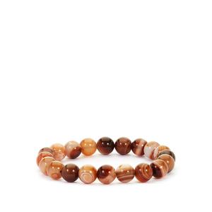 Caramel Agate Stretchable Bracelet 146cts