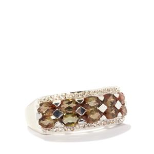 Gouveia Andalusite & White Topaz Sterling Silver Ring ATGW 2.41cts