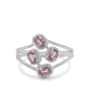 Burmese Spinel Ring in Sterling Silver 1.12cts