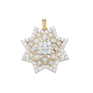 Argyle Diamond Pendant in 9K Gold 1ct
