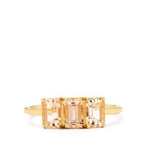 1.75ct Rose Danburite 9K Gold Ring